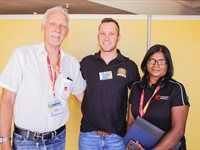 John Dammerman, Marketing Director - Easy Life Kitchens; Willem Jordaan, Sponsorship Manager - Rand Show; Patsy Mundie, Marketing Co-ordinator - Easy life Kitchens